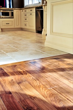 tile and hardwood flooring